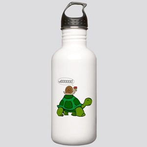 Snail on Turtle Water Bottle