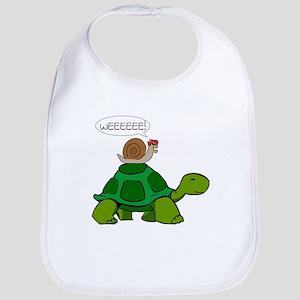 Snail on Turtle Bib