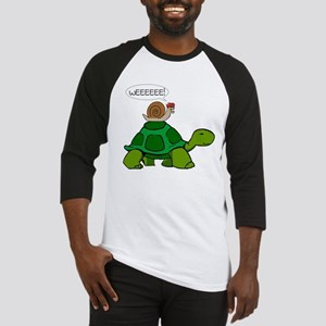Snail on Turtle Baseball Jersey
