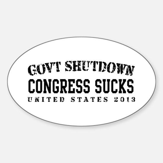 CongressSucks - GovtShut13 Sticker (Oval)