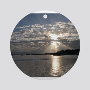 Sunset in Bocas del Toro Ornament (Round)