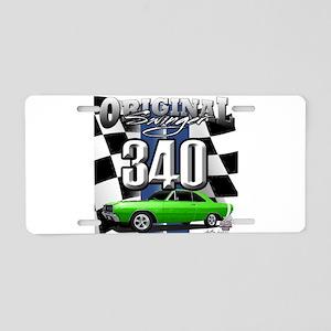 340 swinger Aluminum License Plate