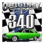 340 swinger Square Car Magnet 3