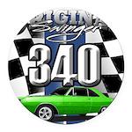 340 swinger Round Car Magnet