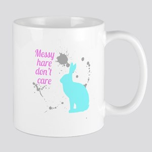 Messy hare don't care Mugs