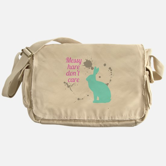 Messy hare don't care Messenger Bag