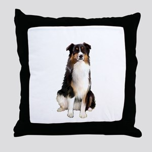 Aussie Shep (Tri3) Throw Pillow