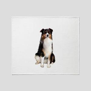 Aussie Shep (Tri3) Throw Blanket