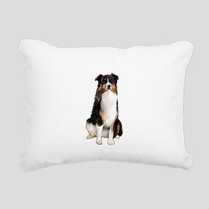 Aussie Shep (Tri3) Rectangular Canvas Pillow