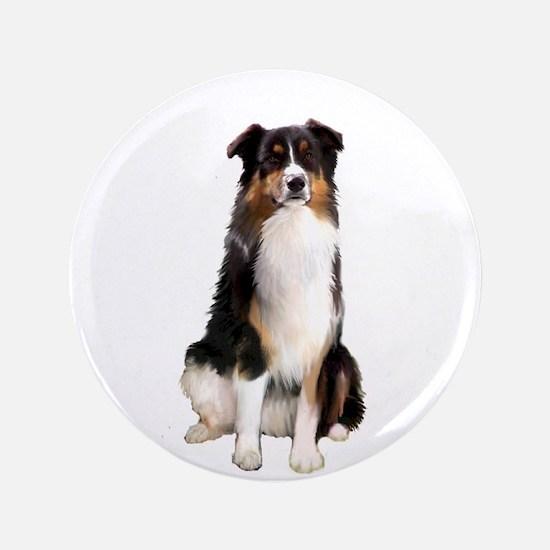 "Aussie Shep (Tri3) 3.5"" Button"