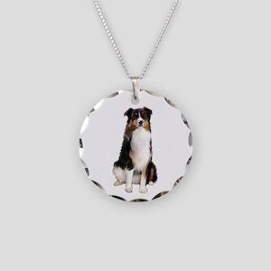 Aussie Shep (Tri3) Necklace Circle Charm