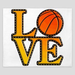 basketball love King Duvet