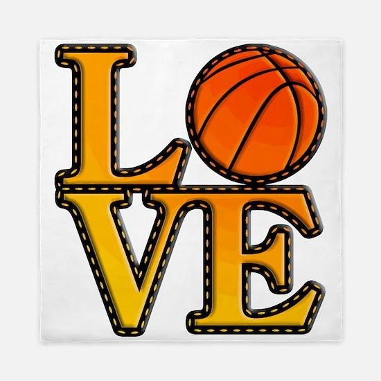 basketball love Queen Duvet
