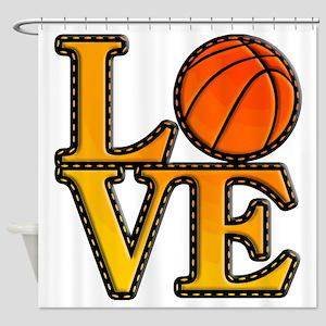basketball love Shower Curtain