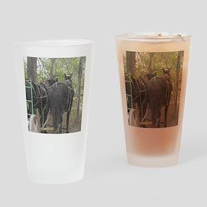 Percheron Team Drinking Glass