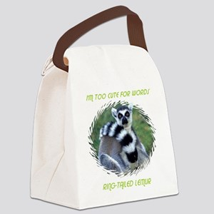 RING TAILED LEMUR Canvas Lunch Bag
