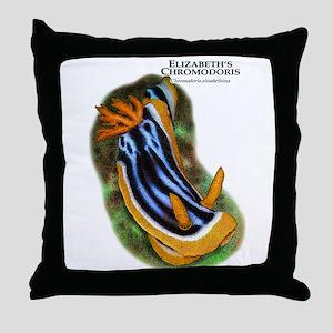 Elizabeth's Chromodoris Throw Pillow