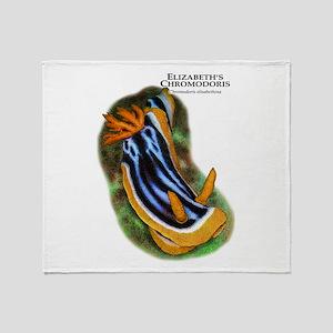Elizabeth's Chromodoris Throw Blanket