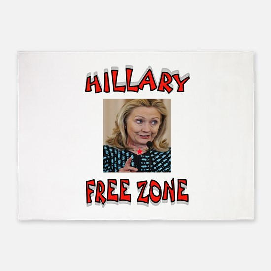 NO HILLARY ZONE 5'x7'Area Rug