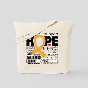 Childhood Cancer Words Tote Bag