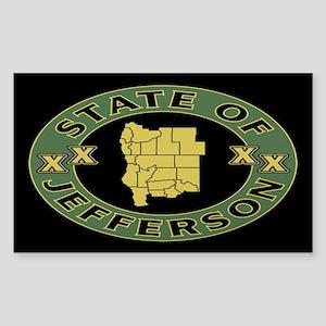 XX State of Jefferson XX Sticker (Rectangle)