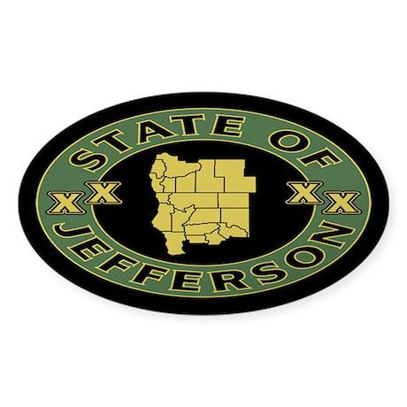 XX State of Jefferson XX Sticker (Oval)
