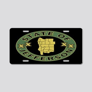 XX State of Jefferson XX Aluminum License Plate