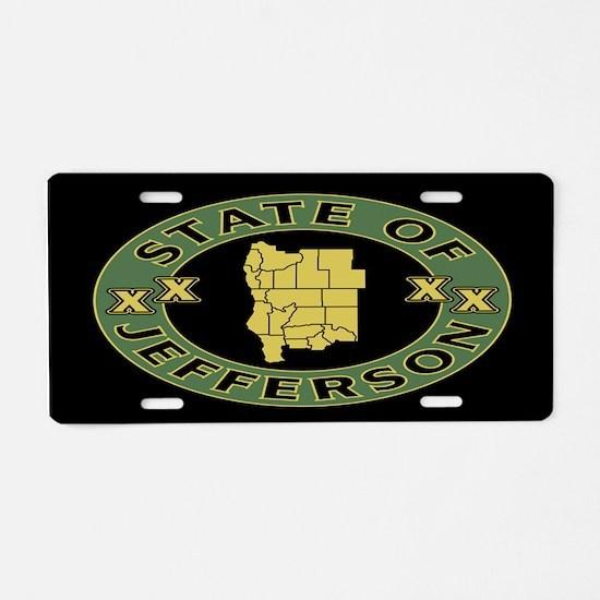 XX State of Jefferson XX Aluminum License Plate