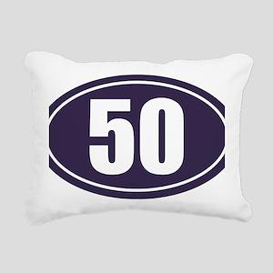 50 Blue Oval Rectangular Canvas Pillow
