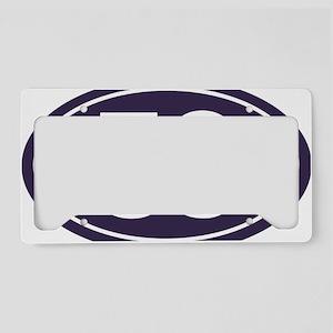 50 Blue Oval License Plate Holder