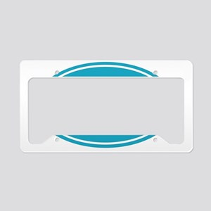50 light blue oval decal License Plate Holder