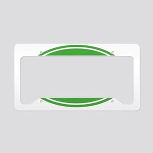 50 Green oval decal License Plate Holder