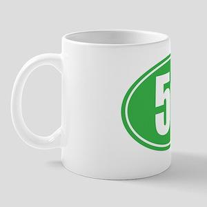 50 green oval Mug