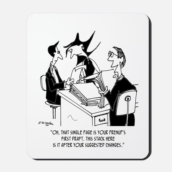 10 Foot Tall Prenup Agreement Mousepad