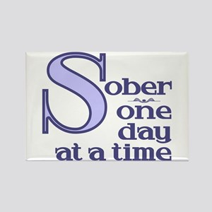 Sober One Day At A Time Rectangle Magnet