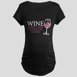 Wine Classy People Maternity T-Shirt