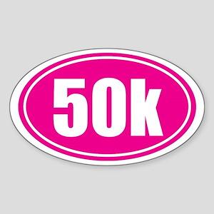 50k Pink oval Sticker (Oval)