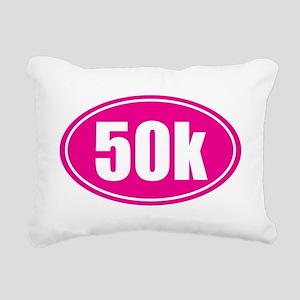 50k Pink oval Rectangular Canvas Pillow