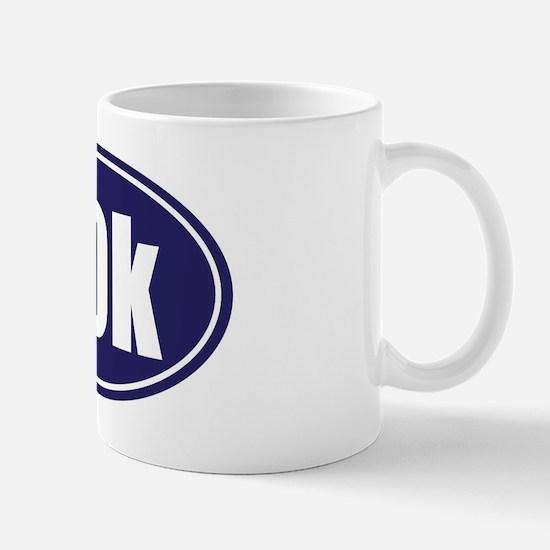 50k Blue oval Mug