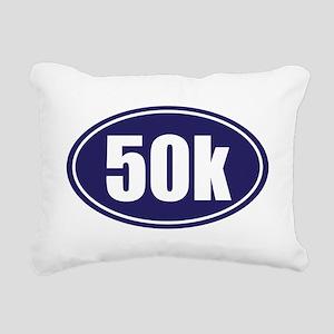 50k Blue oval Rectangular Canvas Pillow