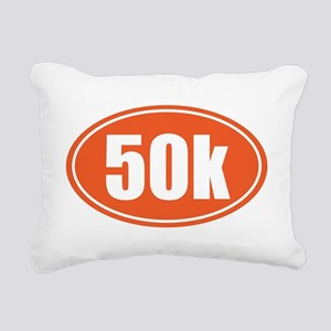50k Orange oval Rectangular Canvas Pillow
