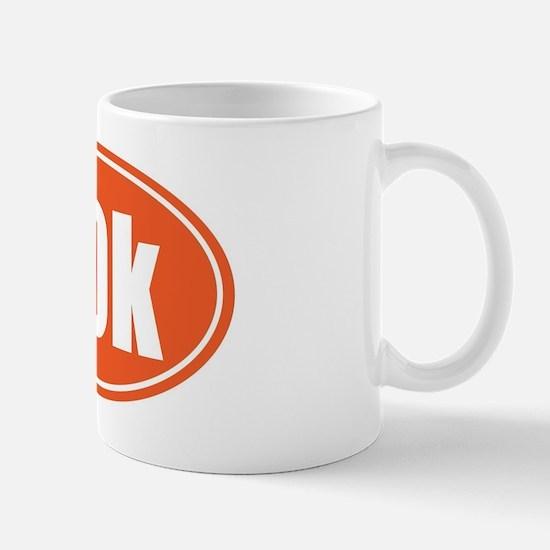 50k Orange oval Mug