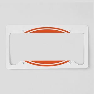 50k Orange oval License Plate Holder