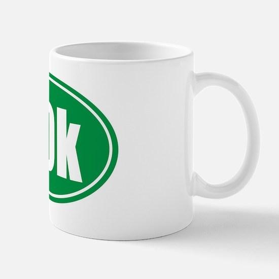 50k green oval Mug