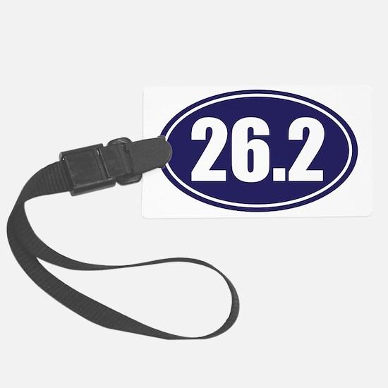 26.2 blue oval Luggage Tag