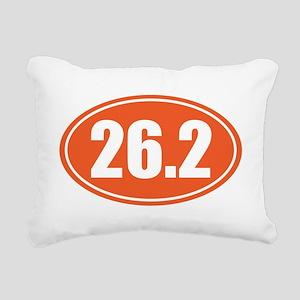 26.2 orange oval Rectangular Canvas Pillow