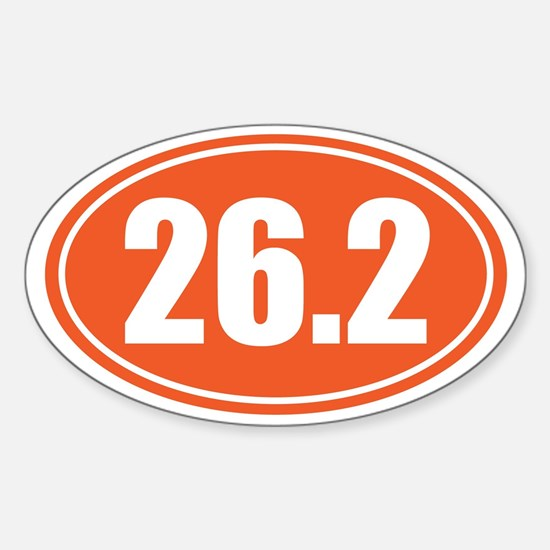 26.2 orange oval Sticker (Oval)