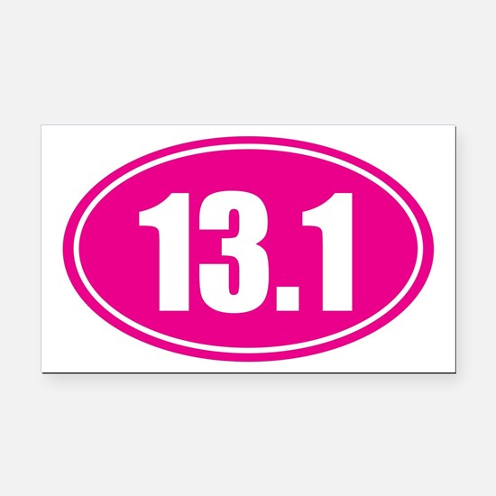 13.1 pink oval Rectangle Car Magnet
