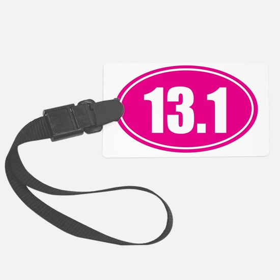 13.1 pink oval Luggage Tag