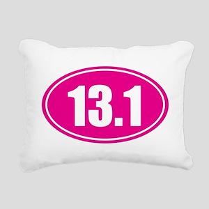 13.1 pink oval Rectangular Canvas Pillow
